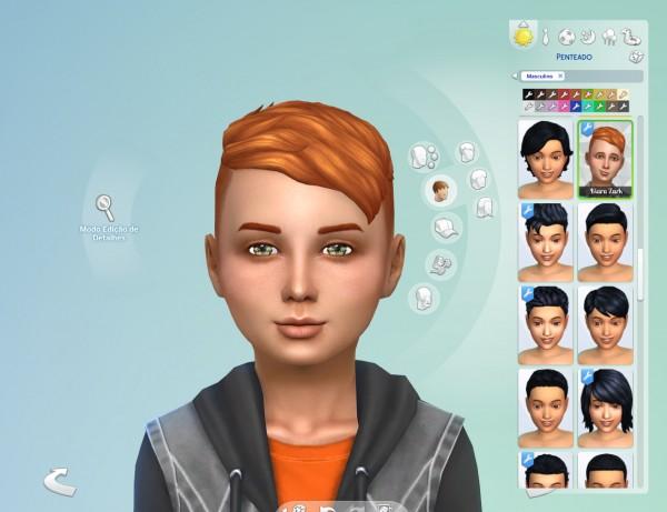 Mystufforigin: Under Cut hair retextured for boys for Sims 4