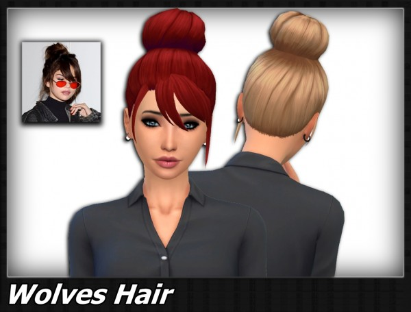 Mikerashi: Wolves Hair for Sims 4