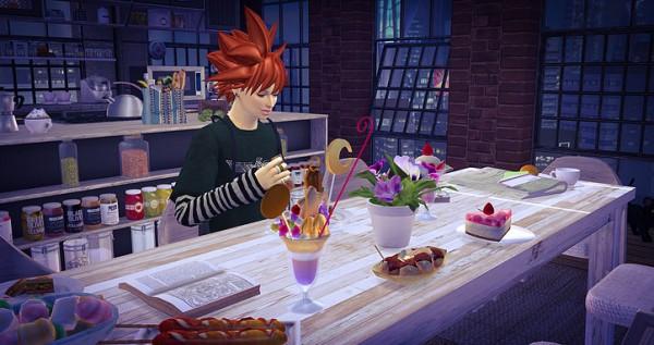 Studio K Creation: Animate hair 87   Turles for Sims 4
