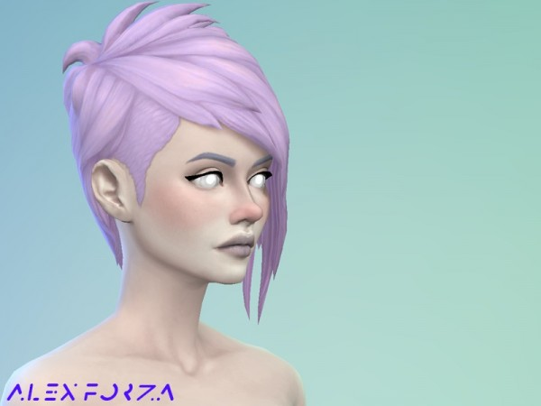 The Sims Resource: Pastel Vampire Hair retextured by AlexForza for Sims 4