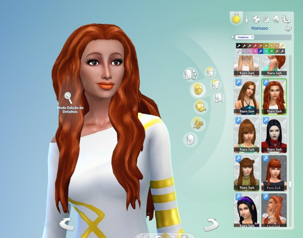 Mystufforigin: Jessica Hair retextured for Sims 4