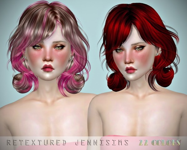 Jenni Sims: Newsea`s Papaya Hair retextured for Sims 4