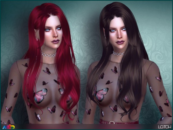 The Sims Resource: Latch Hair by Anto for Sims 4