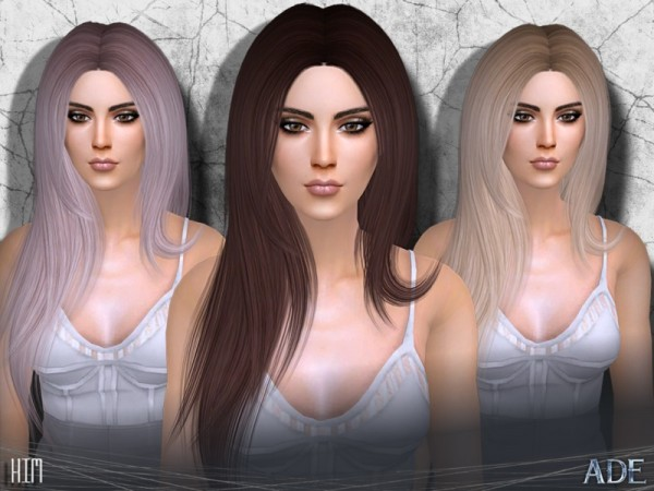 The Sims Resource: Kim hair by Ade Darma for Sims 4