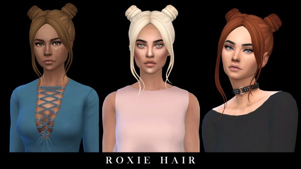 Leo 4 Sims: Roxie hair recolored for Sims 4