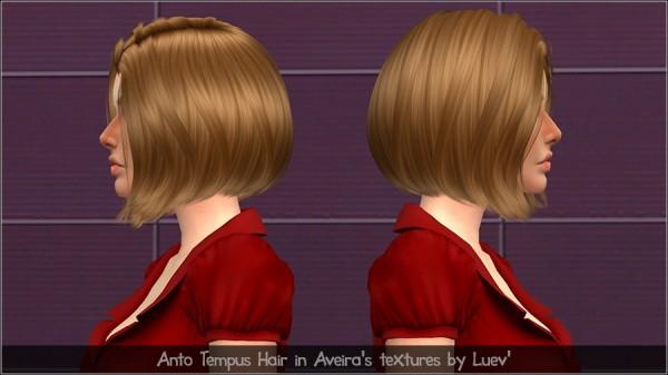 Mertiuza: Anto Tempus hair retextured for Sims 4