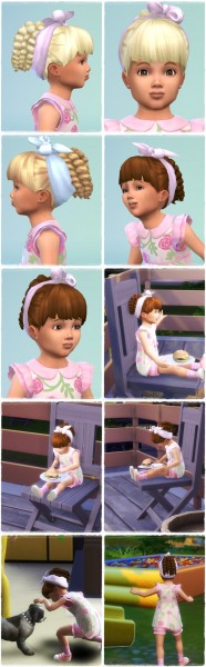 Birksches sims blog: Toddlers Twist Tail with Scarf for Sims 4