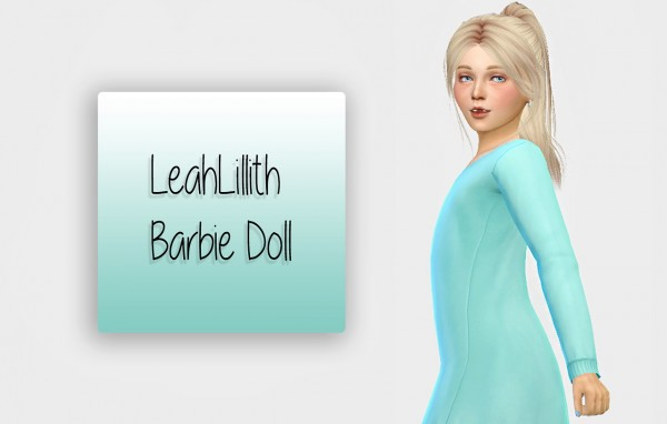 Simiracle: LeahLillith`s Barbie Doll hair retextured for girls for Sims 4