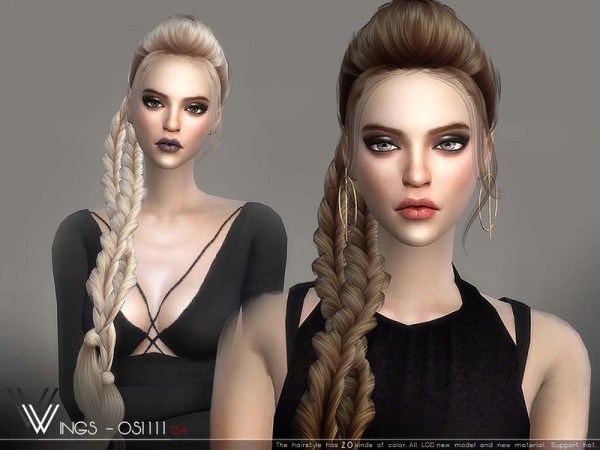 The Sims Resource: WINGS OS1111 hair for Sims 4