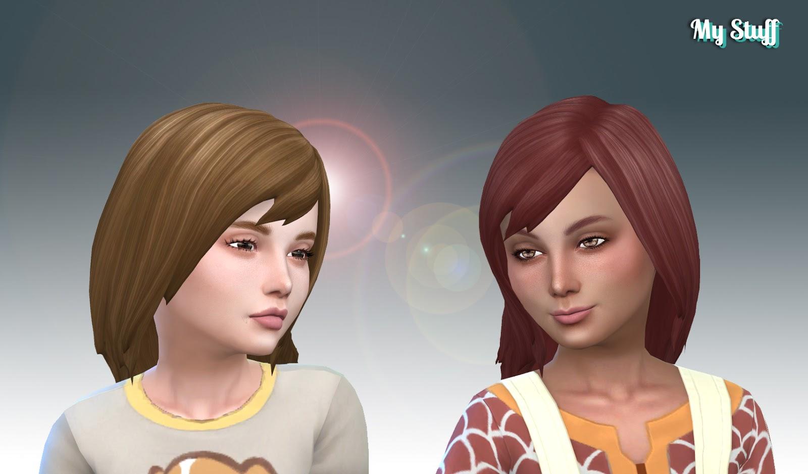 Причёски для девочек в симс 4