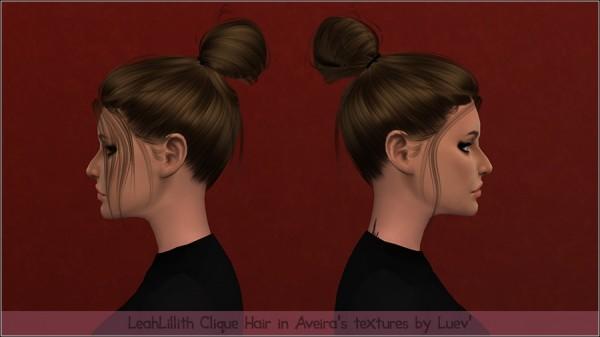 Mertiuza: LeahLillith`s Clique hair retextured for Sims 4