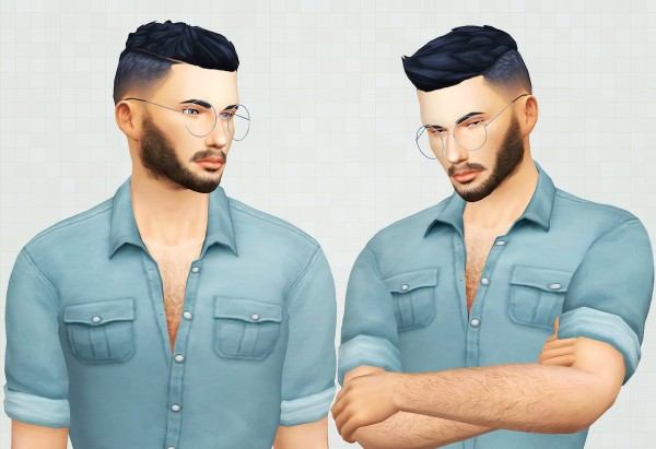 Kot Cat: Conor hair retextured for Sims 4