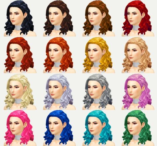Kot Cat: Elizabeth hair retextured for Sims 4