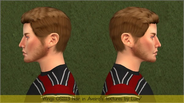 Mertiuza: WINGS OS1113 hair retextured for Sims 4