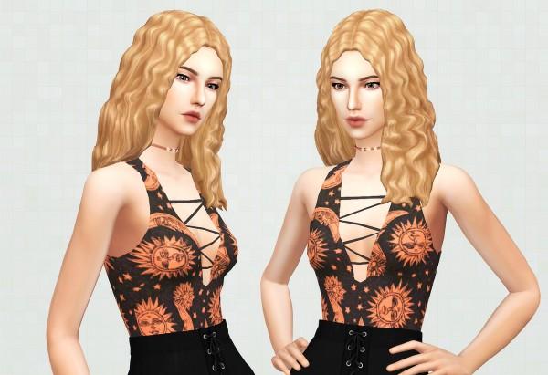 Kot Cat: Britney hair retextured V2 for Sims 4