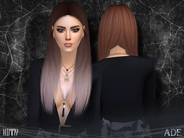 The Sims Resource: Kimmy hair retextured by Ade Darma for Sims 4