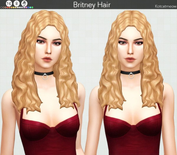 Kot Cat: Britney hair retextured for Sims 4