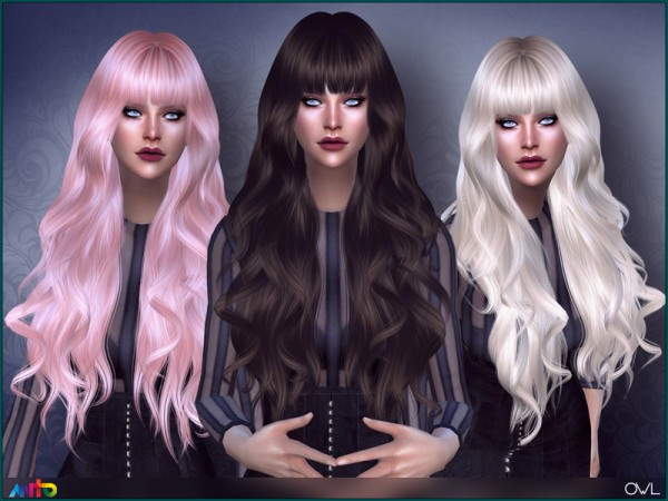 The Sims Resource: Owl Hair by Anto for Sims 4
