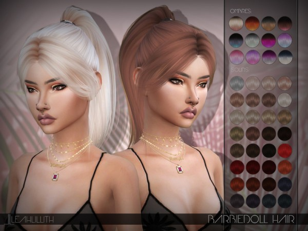 The Sims Resource: Barbiegirl Hair by LeahLillith for Sims 4