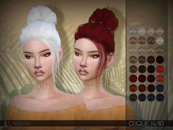 The Sims Resource: Clique Hair by LeahLillith for Sims 4