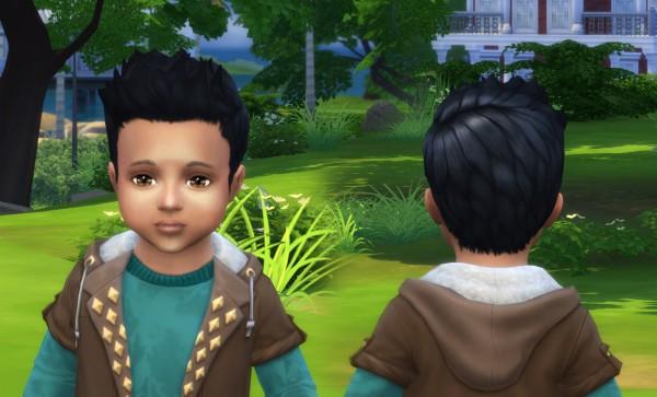 Mystufforigin: Robert Hair for Toddlers for Sims 4
