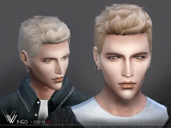 The Sims Resource: WINGS OS1113 hair for Sims 4