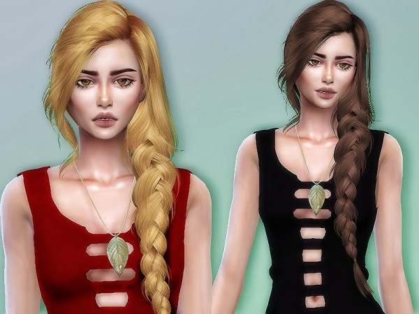 The Sims Resource: Skysims 257 hair retextured by Sharareh for Sims 4