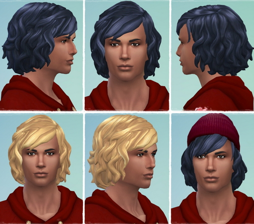 Birksches sims blog: Gents Soft Curls hair for Sims 4