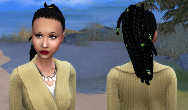 Mystufforigin: Anya Hair retextured for Sims 4