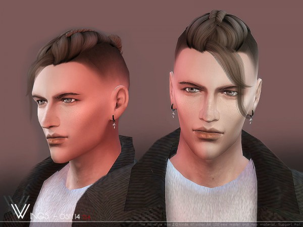 The Sims Resource: Wings os1114 hair for Sims 4