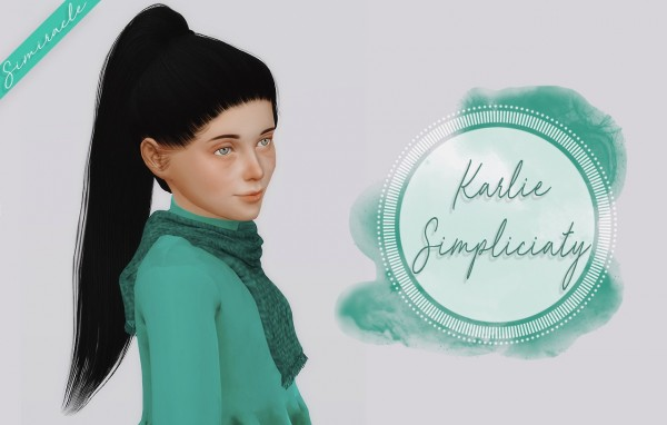Simiracle: Simpliciaty`s Karlie hair retextured  Kids Version for Sims 4