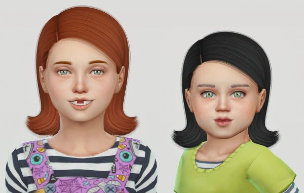 Simiracle: Ade Darma`s Riri hair retextured for Sims 4