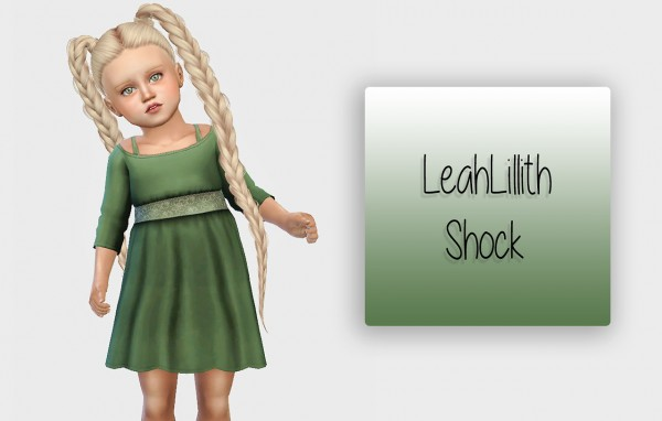 Simiracle: LeahLillith`s Shock hair retextured for toddlers for Sims 4