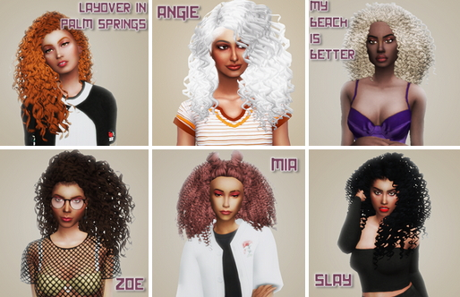Simsworkshop: Palm Springs Hair Recolored by simblrdearie for Sims 4