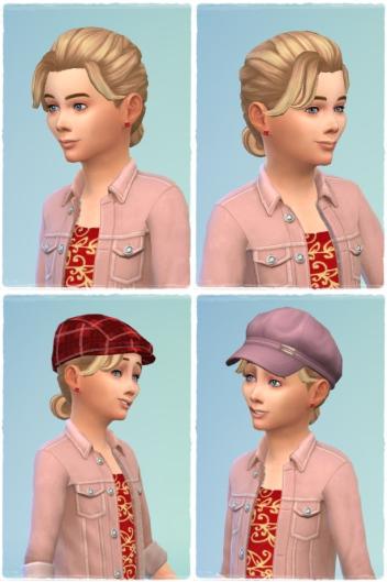 Birksches sims blog: Little French Braid Hair for Sims 4