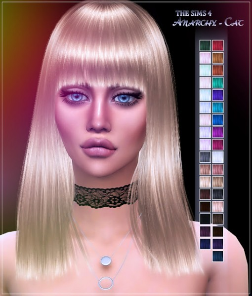 Anarchy Cat: JAKEA`s  H006 Boombayah hair recolored for Sims 4