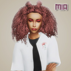 Simsworkshop: Mia Hair Recolored by simblrdearie for Sims 4