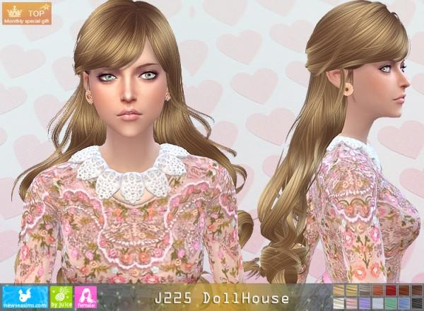 NewSea: J225 DollHouse hair for Sims 4