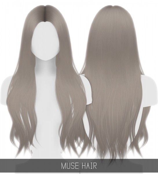 Simpliciaty: Muse hair for Sims 4