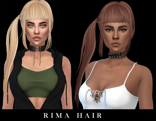 Leo 4 Sims: Rima Hair recolored for Sims 4