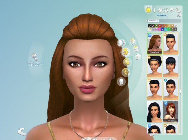 The Sims Resource: Wavy Poof hair retextured for Sims 4