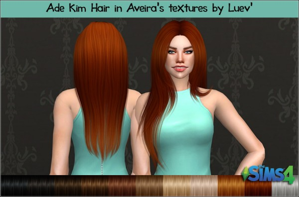 Mertiuza: Ade Darma`s Kim hair retextured for Sims 4