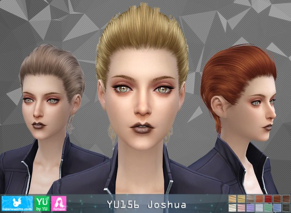 NewSea: YU156 Joshua hair for her for Sims 4