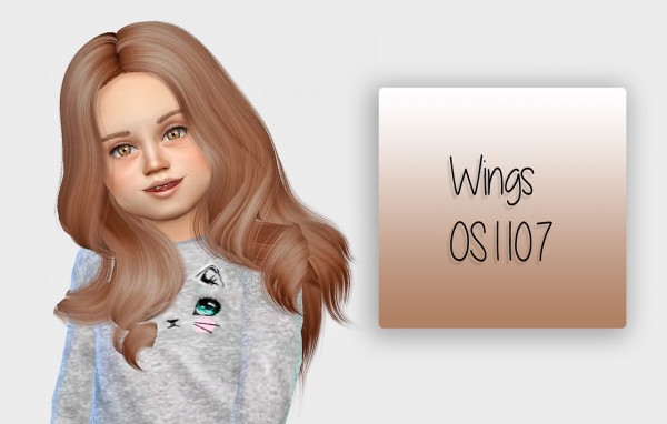 Simiracle: Wings OS1107 hair retextured for toddlers for Sims 4