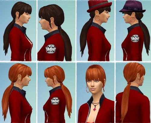 Birksches sims blog: Long Smooth Ponytail hair for Sims 4