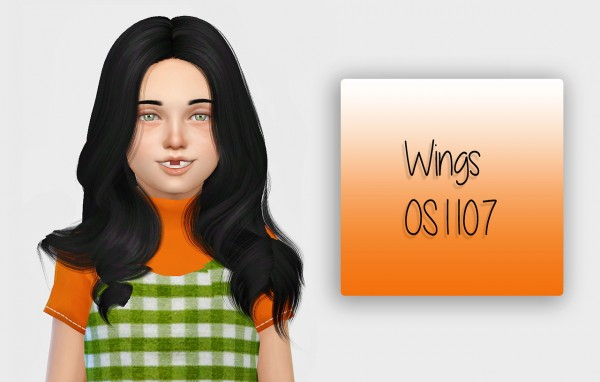 Simiracle: Wings OS1107 hair retextured   Kids Version for Sims 4