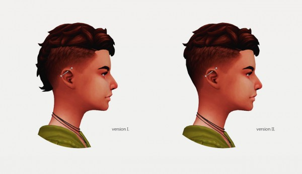 Wyatts Sims: Levi hair retextured for her for Sims 4