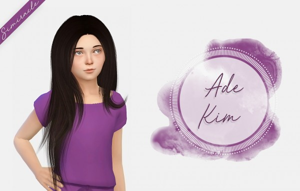 Simiracle: Ade Darma`s Kim hair retextured   Kids Version for Sims 4
