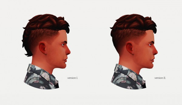 Wyatts Sims: Levi hair retextured for him for Sims 4