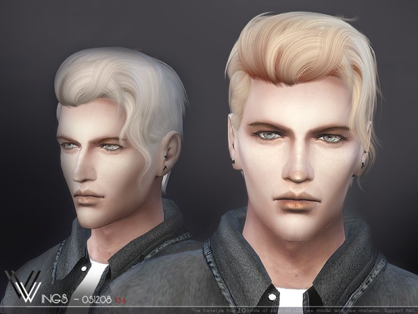The Sims Resource: WINGS OS1208 hair for Sims 4